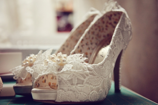 Photo of Lovely Lace Wedding Shoes